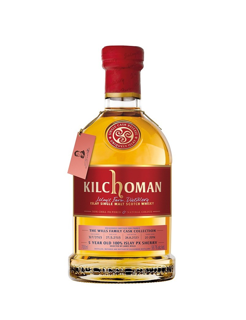 KILCHOMAN 5 ans 2015 Family Cask Collection PX Hogshead by James Wills
