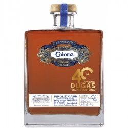 Rhum COLOMA SINGLE CASK 2007 - PRIVATE BOTTLING 40 ANS DUGAS