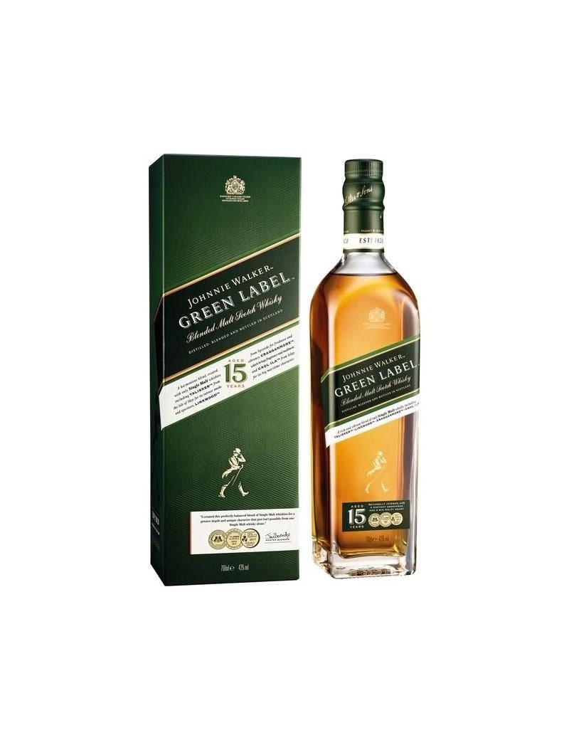 Whisky écossais Johnnie Walker 15 ans Green Label en étui