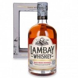 Lambey Irish Malt Ambré et son coffret.