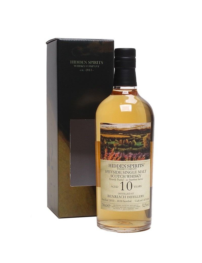 BENRIACH 10 ans 2010 Heavily Peated Hid.