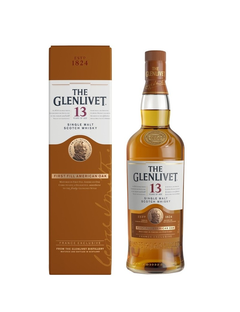 GLENLIVET (The) 13 ans First Fill American Oak 40%